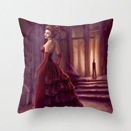 Don't Look Back - fantasy art Throw Pillow