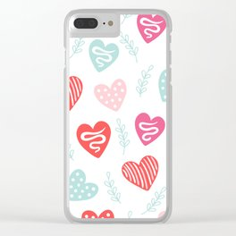 Love and hearts Clear iPhone Case