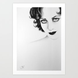 Joan Crawford Minimal Portrait Art Print