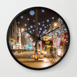 Christmas in London Wall Clock