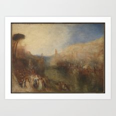 Joseph Mallord William Turner 1775–1851   The Departure of the Fleet Art Print