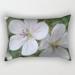 Flowers On The Mountain Rectangular Pillow
