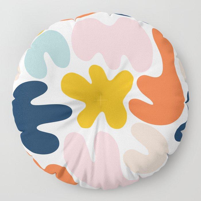 Blob Collage - Multi Floor Pillow