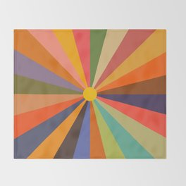 Sun - Soleil Throw Blanket