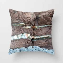 Colourful Rock Abstract Throw Pillow