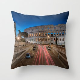 Colosseum at dawn Throw Pillow