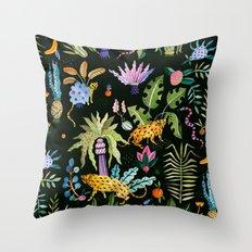 Jungle at night Throw Pillow