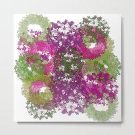 Wreath Collage Metal Print