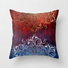 Mandala - Fire & Ice Throw Pillow