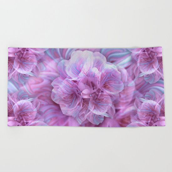 Fractal Flower 3 Beach Towel