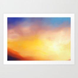 Dawn painting Art Print