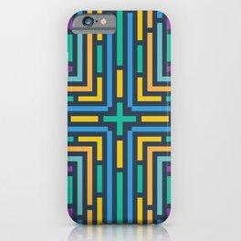 Geometric labyrinth iPhone Case