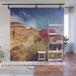 Golden Cliffs Wall Mural