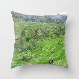 Terraced Fields Throw Pillow