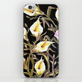 Arum Lily Artistic Floral Design iPhone Skin