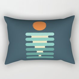 Minimalist ocean Rectangular Pillow