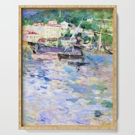 Berthe Morisot - The Port of Nice - Digital Remastered Edition Serving Tray