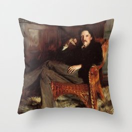 John Singer Sargent Robert Louis Stevenson 1887 Throw Pillow