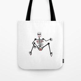 Black Skeleton  Female Tote Bag