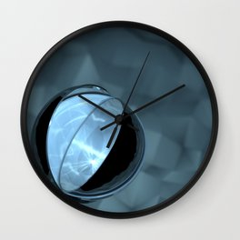 Blue Caustics Wall Clock