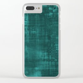 Blue Wall Clear iPhone Case