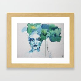Blue Day Framed Art Print