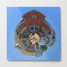 Planet Oxnard Harbor Houses Metal Print