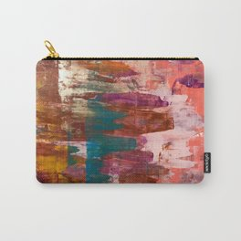 Desert Sun [3]: A bright, bold, colorful abstract piece in warm gold, red, yellow, purple and blue Carry-All Pouch