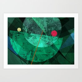Broken face Art Print