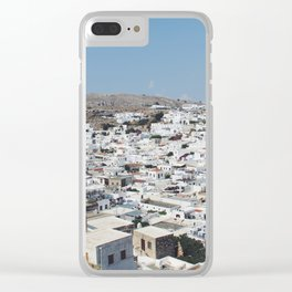 Lindos, Rhodes Clear iPhone Case