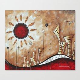 Sun in the desert Canvas Print