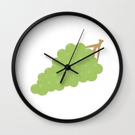 bunch of grapes Wall Clock