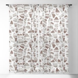 Okapi Animal Print [Native] Sheer Curtain