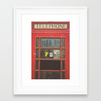 telephone Framed Art Prints featuring Telephone by Benjamin Robles Art