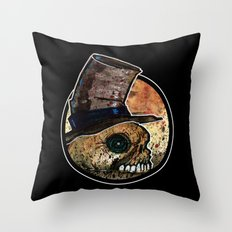 Skull in a Top Hat Throw Pillow