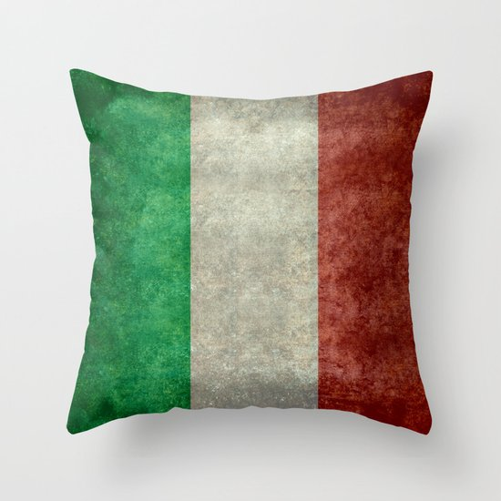 Vintage Looking Throw Pillows : Italian flag, vintage retro style Throw Pillow by LonestarDesigns2020 Is Modern Home Decor ...
