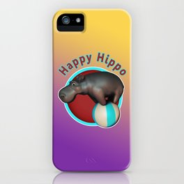 Happy Hippo Tumbler iPhone Case