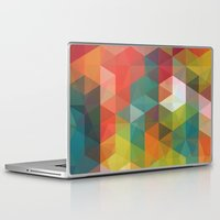 transparent Laptop & iPad Skins featuring Transparent Cubism by All Is One
