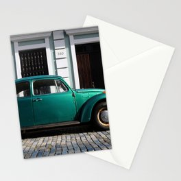 Green old car Stationery Cards