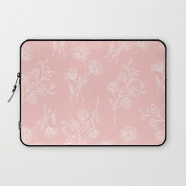 Pink Daisy & Sweet Pea Laptop Sleeve
