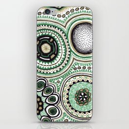 Green and Gold Rings iPhone Skin