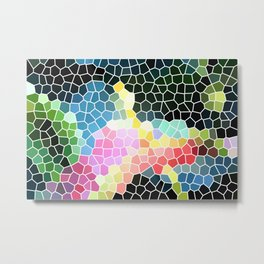 Anthurium Flower Mosaic Metal Print