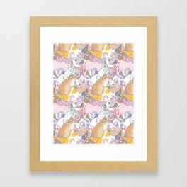 Fancy Rat Pattern Framed Art Print