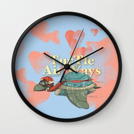 Turtle Air Ways, The flying turtle! Wall Clock