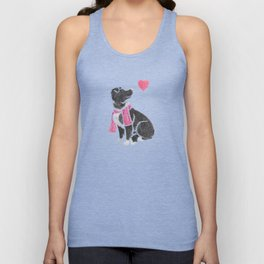 Watercolour Border Collie Unisex Tank Top