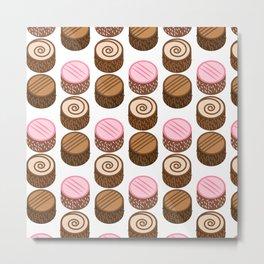 Sweet cake pattern Metal Print