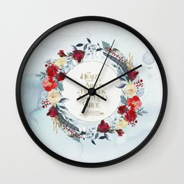 The heart is an arrow... Six of Crows Quote Wall Clock