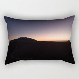 monte baldo garda lake italy drone shot aerial view sunset mountains dust path clouds star Rectangular Pillow