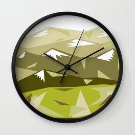 Green alpes Wall Clock