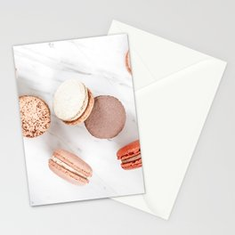 French Macarons Print, Sweet Macaroons Art, Minimalist Food Print, Paris Cuisine Decor, Pastel Cookies Print, French Patisserie Flat Lay Stationery Cards
